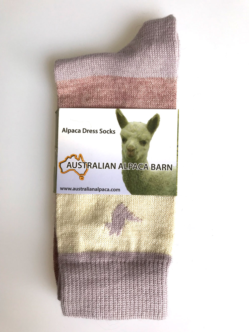 Alpaca & Cotton Dress Socks - Lilac