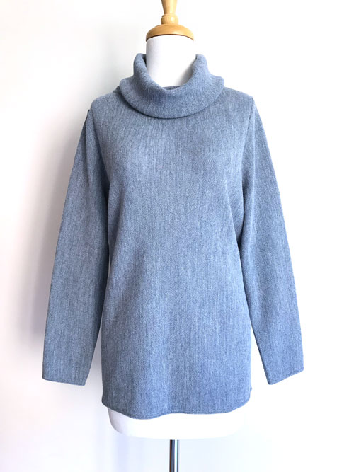 Caletti Roll Neck Links Tunic - Silver