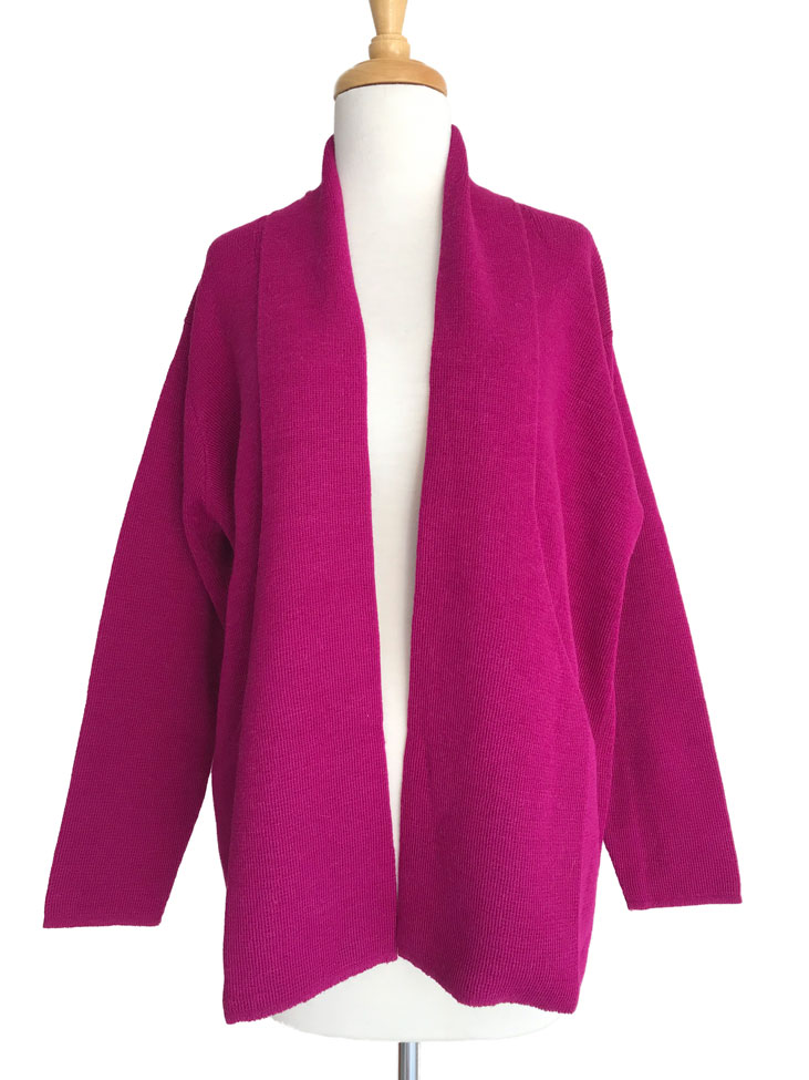 Long Laura Cardigan - Magenta