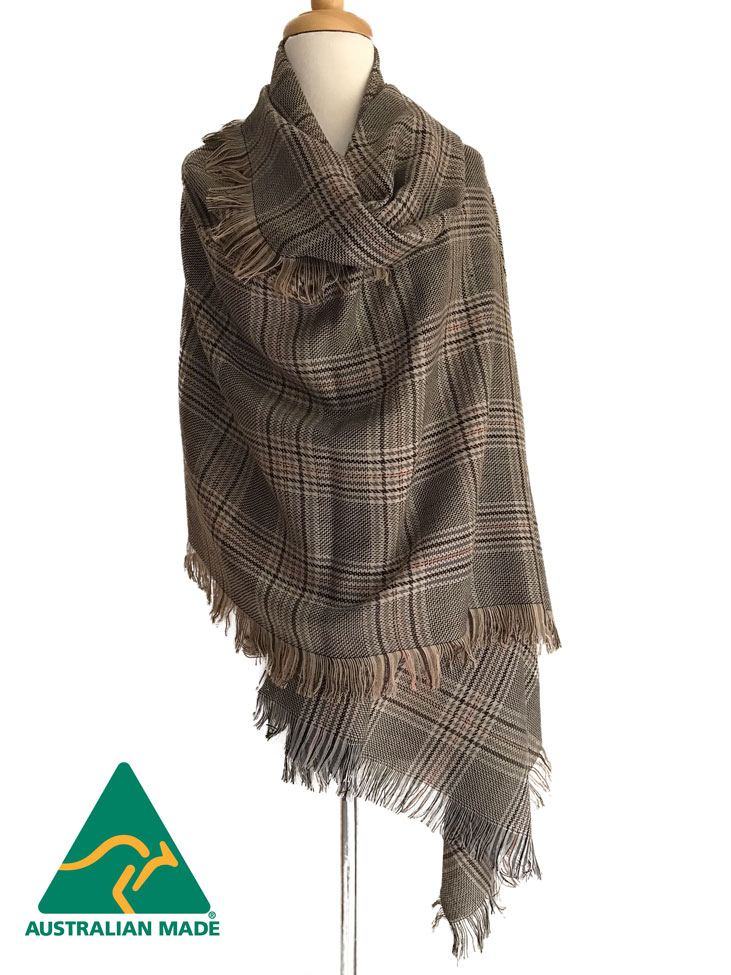 NEW - Australian Alpaca Jumbo Shawl Coffee