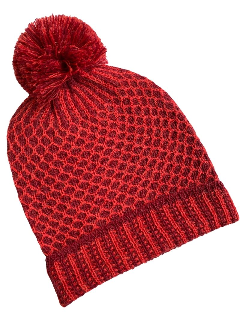 NEW  - Nogal PomPom Beanie Red/Wine