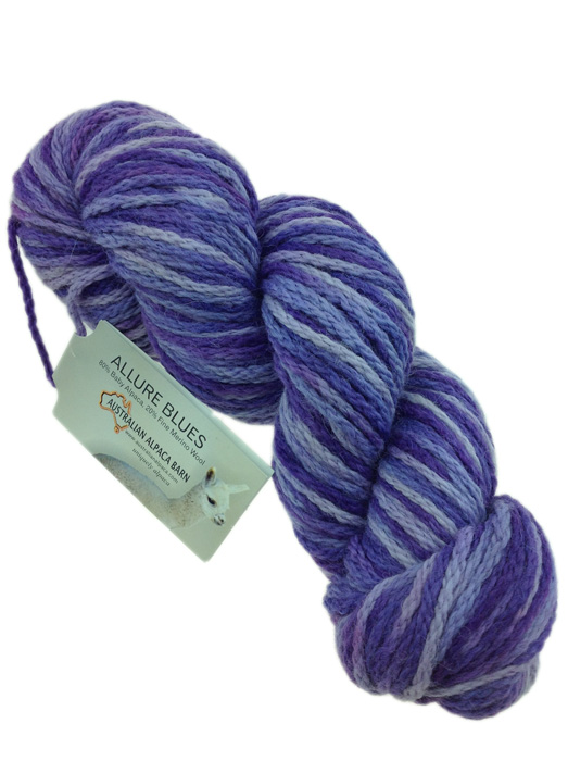 Allure Hand Painted Yarn - Purples 343