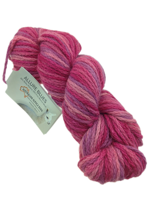 Allure Hand Painted Yarn - Pinks 342