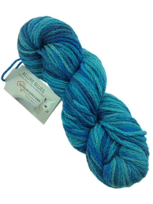 Allure Hand Painted Yarn - Turquoise 334