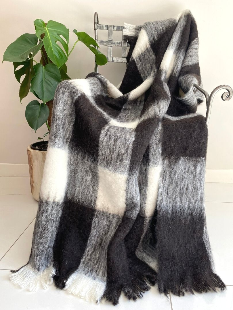 Natural Alpaca Brushed Throw - Friesian