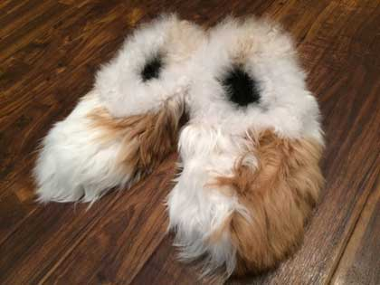 Reversible Alpaca Fur House Slippers