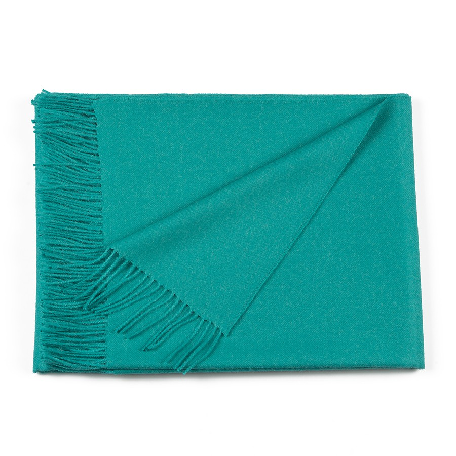 Classic Baby Alpaca Throw - Aqua