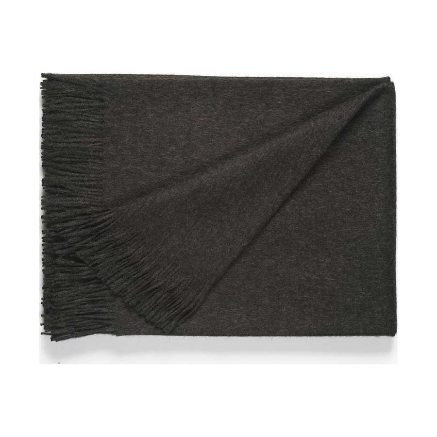 Classic Baby Alpaca Throw - Charcoal