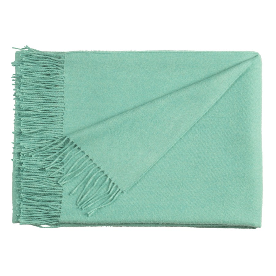Classic Baby Alpaca Throw - Spearmint