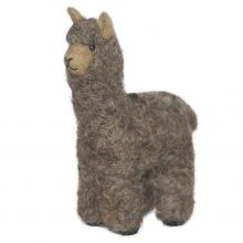 Needle Felted Alpaca Huacaya Small - Rose Grey