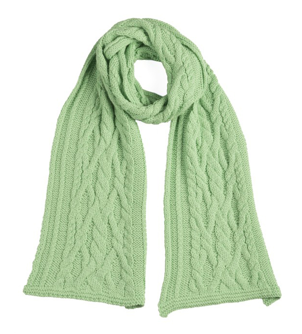 Chunky Cable Knit Scarf - Mint