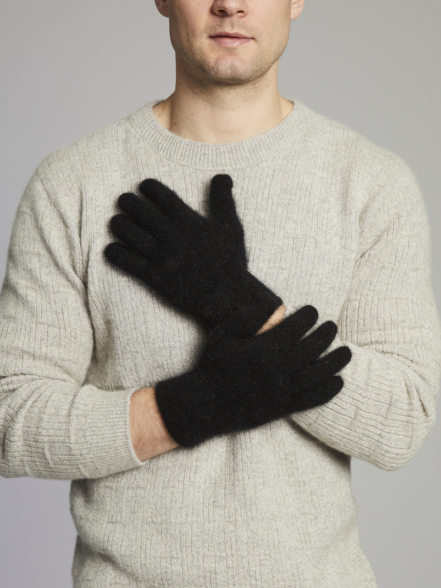 Merino / Possum Standard Glove - Black