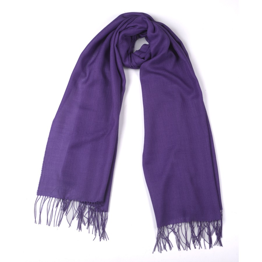 Alpaca & Silk Shawl - Purple