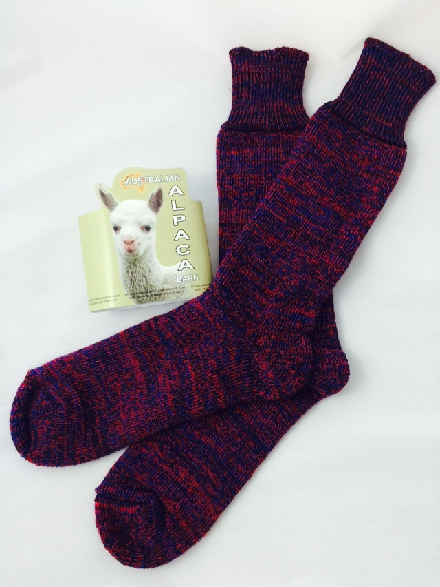 Alpaca Boot Socks - Red Merle