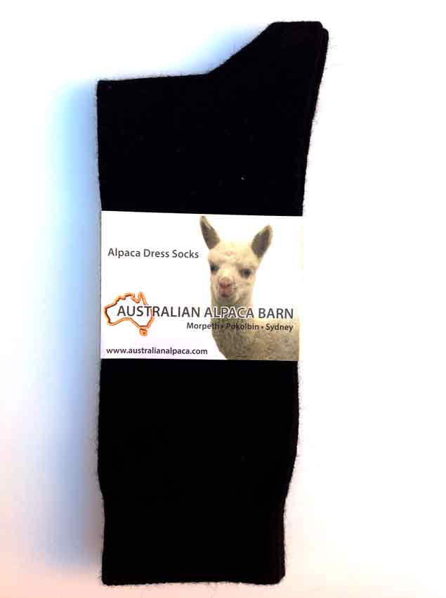 Alpaca Dress Socks - Black