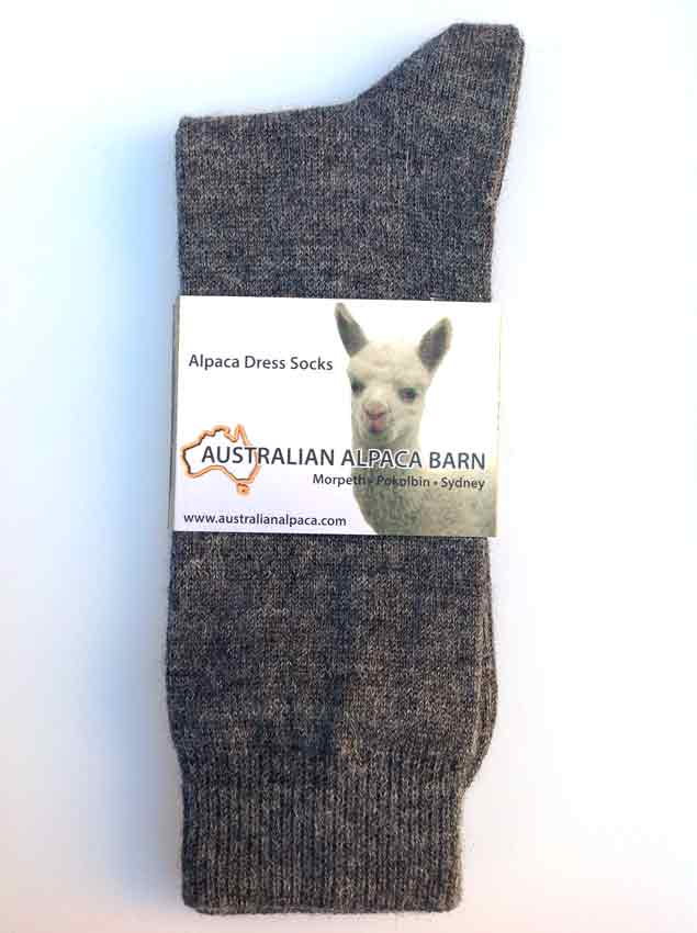 Alpaca Dress Socks - Grey