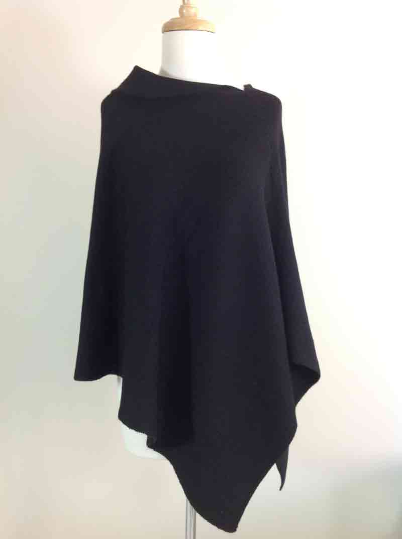 Asymmetric Poncho/Cape - Black