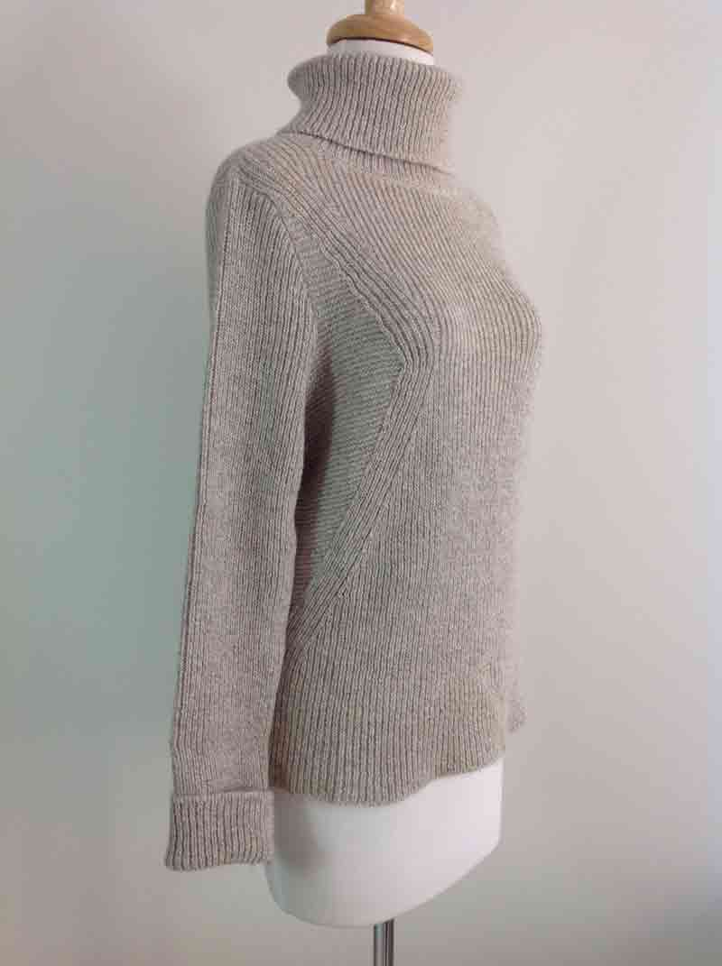 Soft Roll Neck Sweater - Natural