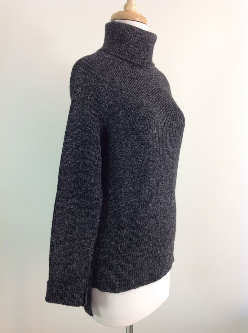 Soft Roll Neck Sweater - Black Mix