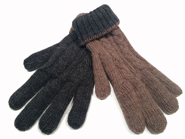 Reversible Gloves - Charcoal & Rose Grey