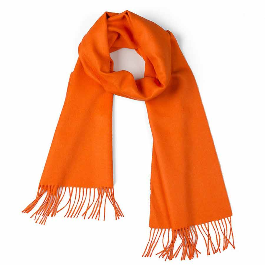 Alpaca Classic Scarf - Orange 13347