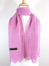 Lace Edge Scarf - Pink