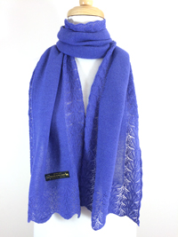 Lace Edge Scarf - Blue