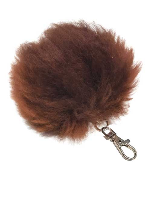 Alpaca Fur Pom Key Chain/Charm