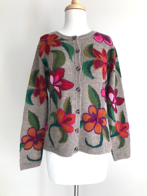 NEW - Hand Knitted Cardigan Dancing Nectar