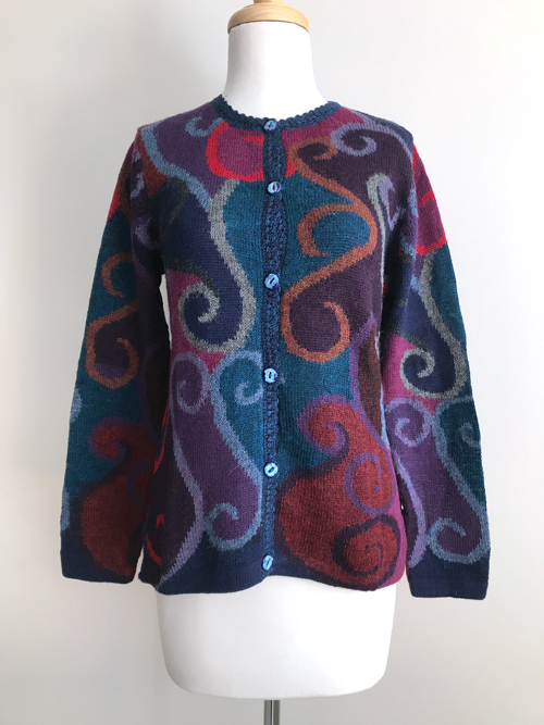 Hand Knitted Cardigan Melody Swirl