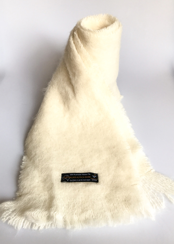 Alpaca Brushed Scarf – Natural Cream