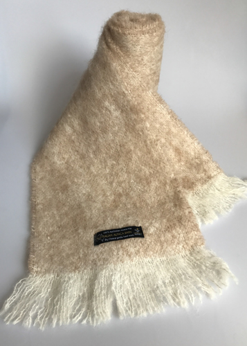 Alpaca Brushed Scarf – Natural Sand