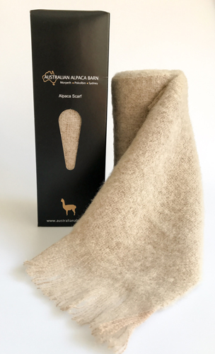 NEW Brushed Baby Alpaca Scarf - Fawn