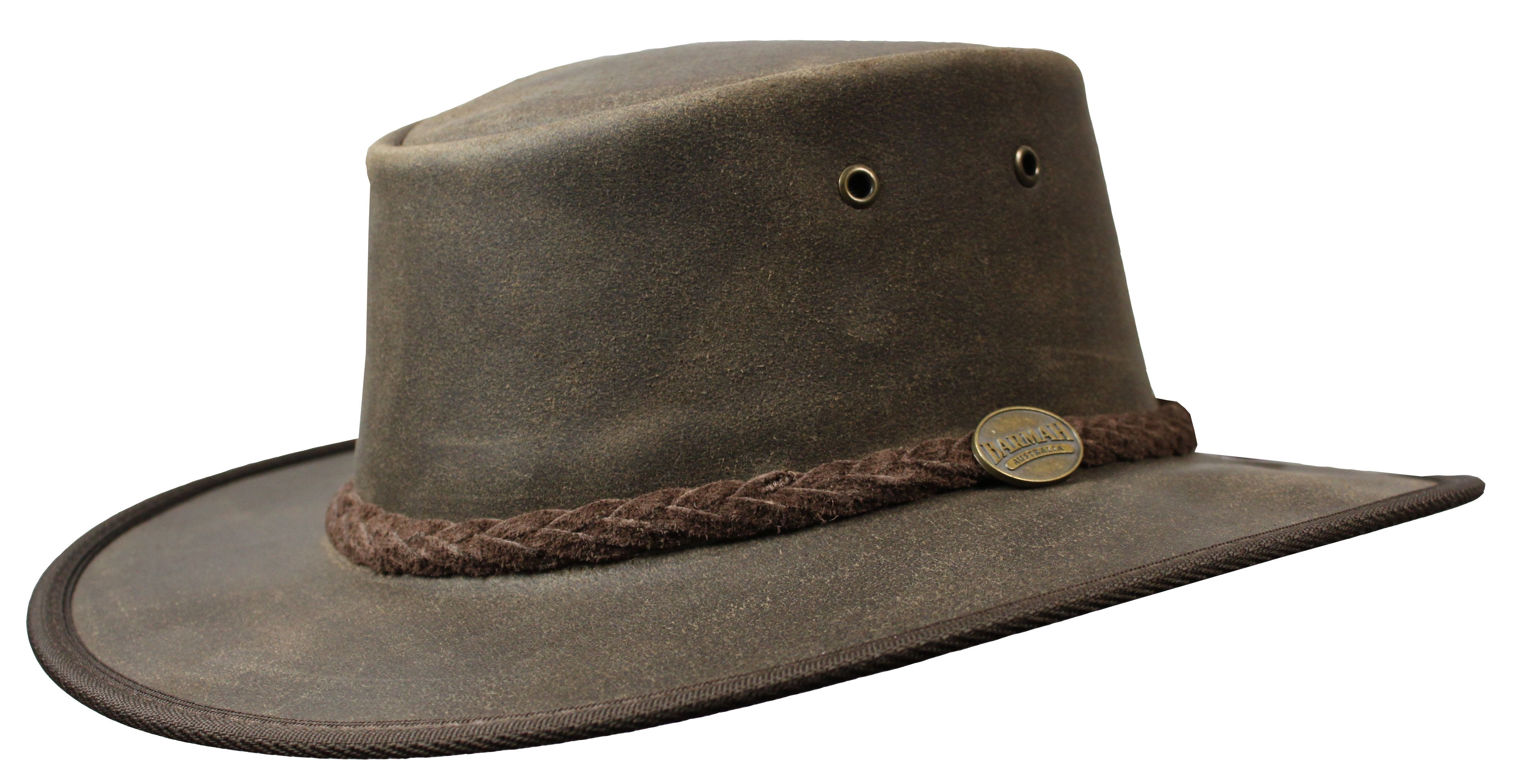 Foldaway Oiled Hat - Brown