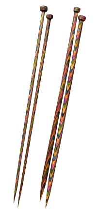 Symfonie Wood Straight Needles 30cm - 5.00mm to 6.00mm